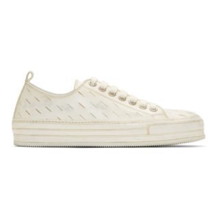 Ann Demeulemeester White Downey Washed Sneakers