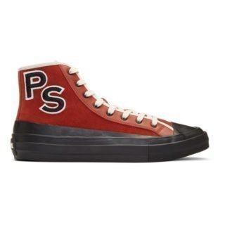 PS by Paul Smith Red Suede Kit Sneakers