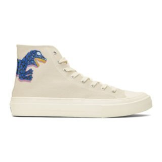 PS by Paul Smith Ivory Kirk Dino High-Top Sneakers