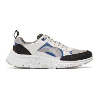 PS by Paul Smith White and Silver Ajax Sneakers