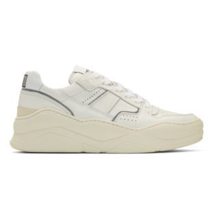 AMI Alexandre Mattiussi White Thick Sole Sneakers