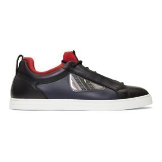 Fendi Black and Navy Bag Bugs Sneakers