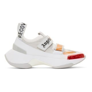 Palm Angels White and Orange Recovery Sneakers