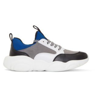 Moschino Blue Suede Teddy Run Sneakers