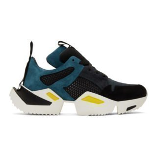 Unravel Blue and Black Low Sneakers
