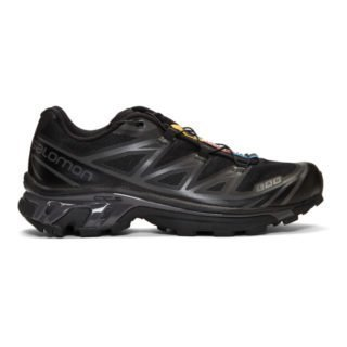 Salomon Black and Grey S/Lab XT-6 Softground LT ADV Sneakers