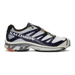Salomon Grey and Blue S/Lab XT-4 ADV Sneakers