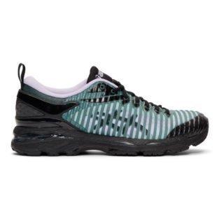 Kiko Kostadinov Black and Blue Asics Edition Gel-Delva Sneakers