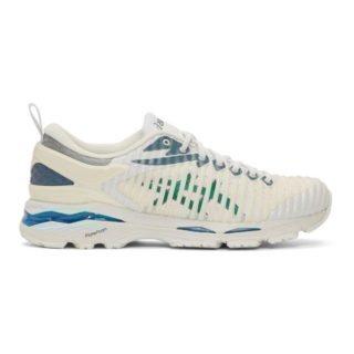 Kiko Kostadinov White and Green Asics Edition Gel-Delva Sneakers