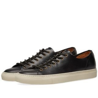 Buttero Tanino Low Leather Sneaker (Black)
