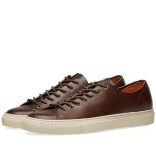 Buttero Tanino Low Leather Sneaker (Brown)