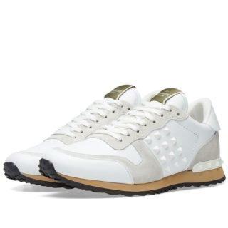 Valentino Tonal Rockrunner Sneaker (White)