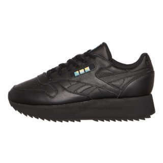Reebok Classic Leather Double (zwart/wit/blauw/goud)