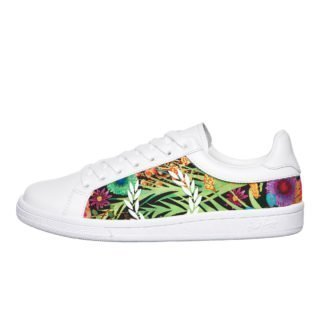 Fred Perry B721 Liberty Print / Leather (wit)