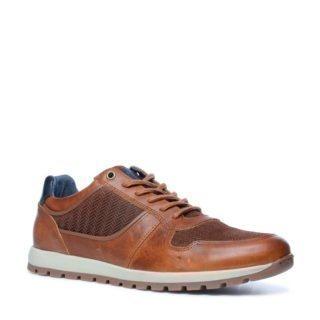 Sacha leren sneakers (bruin)