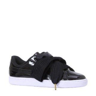Puma Basket Heart Patent sneakers (zwart)