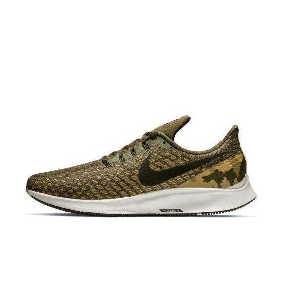 Nike Air Zoom Pegasus 35 Hardloopschoen met camouflageprint voor heren – Olive Olive