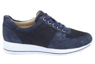 Caprice 23704 sneaker blauw en taupe