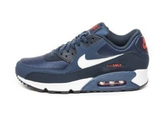 Nike Air Max 90 Essential (Midnight Navy / White - University Red)