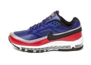 Nike Air Max 97 / BW (Deep Royal Blue / Black - University Red)