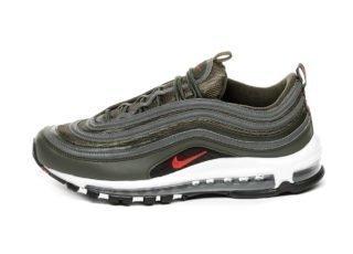Nike Air Max 97 (Sequoia / University Red - Metallic Dark Grey)