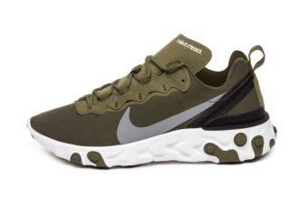 Nike React Element 55 (Medium Olive / Cool Grey - Black - White)