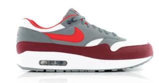 Nike Air Max 1 AH8145 100 Rood Grijs