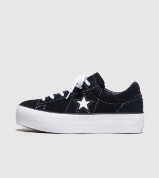 Converse One Star Platform Dames (zwart)
