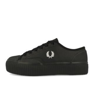 Fred Perry Hughes Flatform Low Coated Canvas Black EUR 37