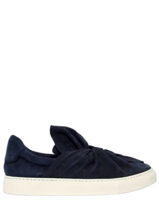 20mm Knot Suede Slip-on Sneakers (blauw)