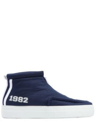 High Top Sneakers W/zip (blauw)