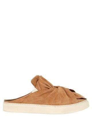 20mm Knot Suede Mules (beige)
