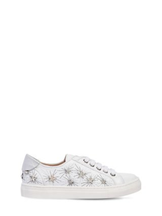Cosmic Star La Studded Leather Sneakers (wit)