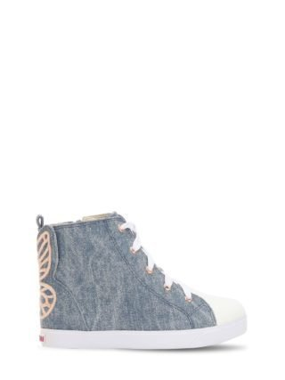 Bibi Embroidered Denim High Top Sneakers (blauw)