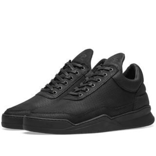 Filling Pieces Low Top Ghost Microlane Sneaker (Black)
