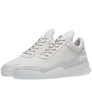 Filling Pieces Low Top Ghost Microlane Sneaker (White)