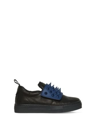 Spikes Nappa Leather Sneakers (zwart/blauw)