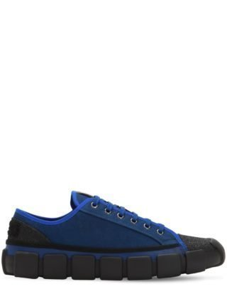 Craig Green Bradley Leather Sneakers (zwart/blauw)