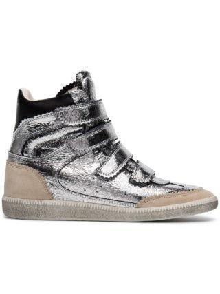 Isabel Marant Silver Heel 35 hi top wedge sneakers - Metallic