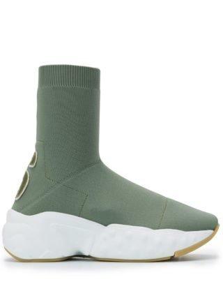 Acne Studios Knitted sock sneakers (groen)