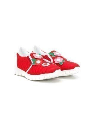 Ermanno Scervino Junior TEEN sneakers met mesh (rood)