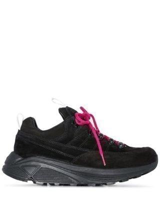 Diemme black Monte Grappa low-top leather sneakers (zwart)