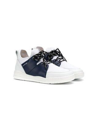 Lanvin Enfant TEEN colour block sneakers (wit)