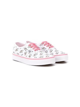 Vans Kids Authentic unicorn print sneakers (wit)