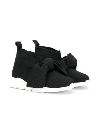 Florens knot detail sock sneakers (zwart)