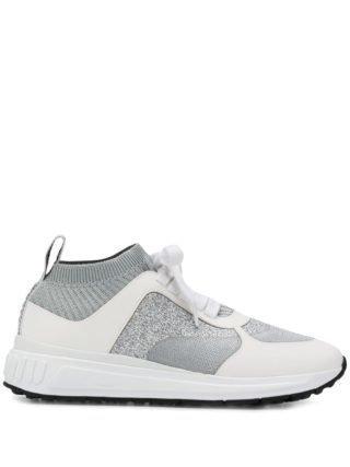 Miu Miu glitter sneakers (zilver)
