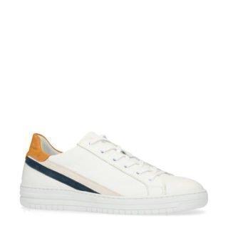 Manfield leren sneakers wit (wit)