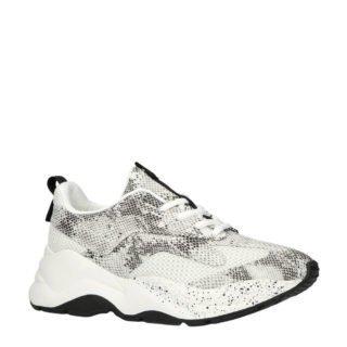 Bianco sneakers met slangenprint (wit)