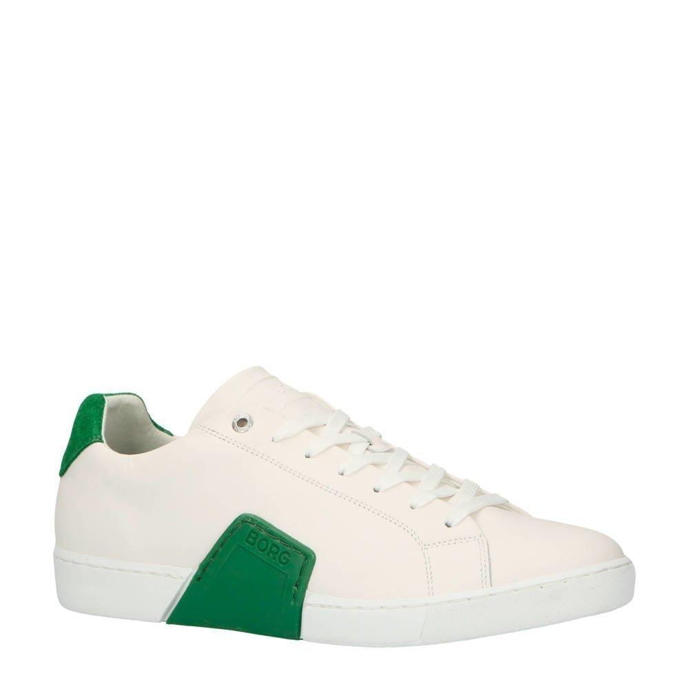 4ff5e79ccf8 Björn Borg Clip M leren sneakers wit/groen (wit) | 173a67827050 | Bjorn Borg