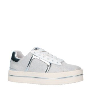 REPLAY plateau sneakers wit/zilver (zilver)